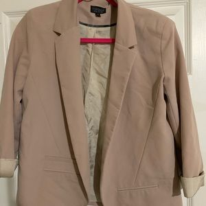 Blush top shop blazer